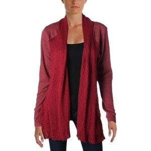 Lucky Brand Small Mixed-media Open Front Cardigan